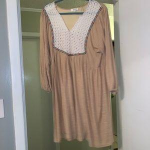 UMGEE 2X Tan Plus Size dress